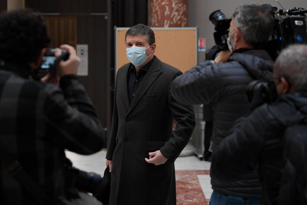 Alexandre Guérini le 15 mars 2021, à l'ouverture du procès à Marseille (photo Nicolas Tucat / AFP)