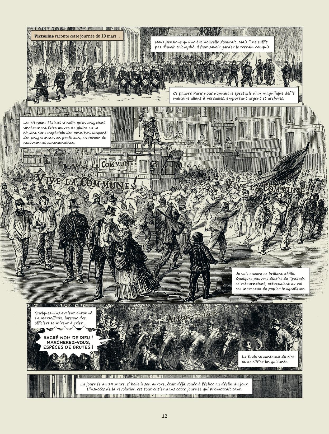 """Commune de Paris: """"Les Damnés"""" de Raphaël Meyssan Tome 2 page 12"""