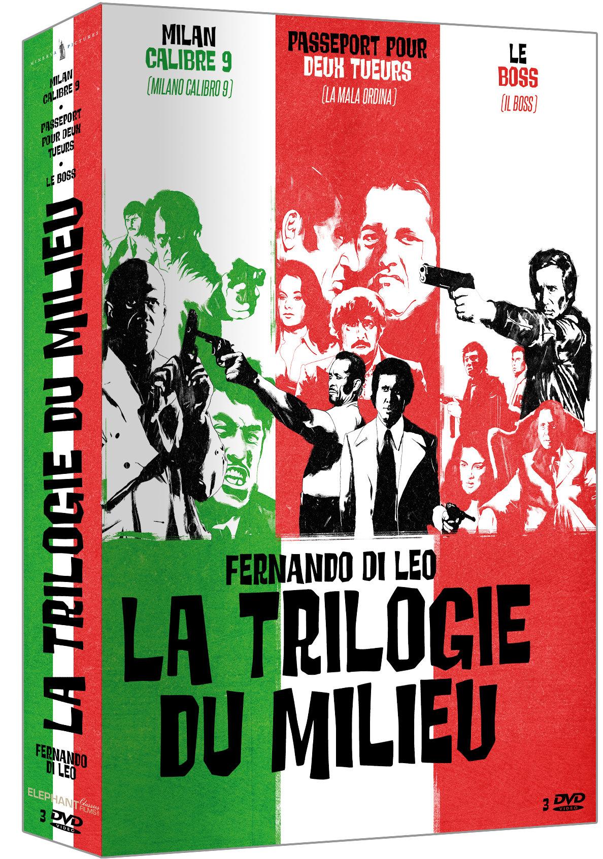 """""""""""La trilogie du milieu"""" coffret de trois films de Fernando Di Leo."""