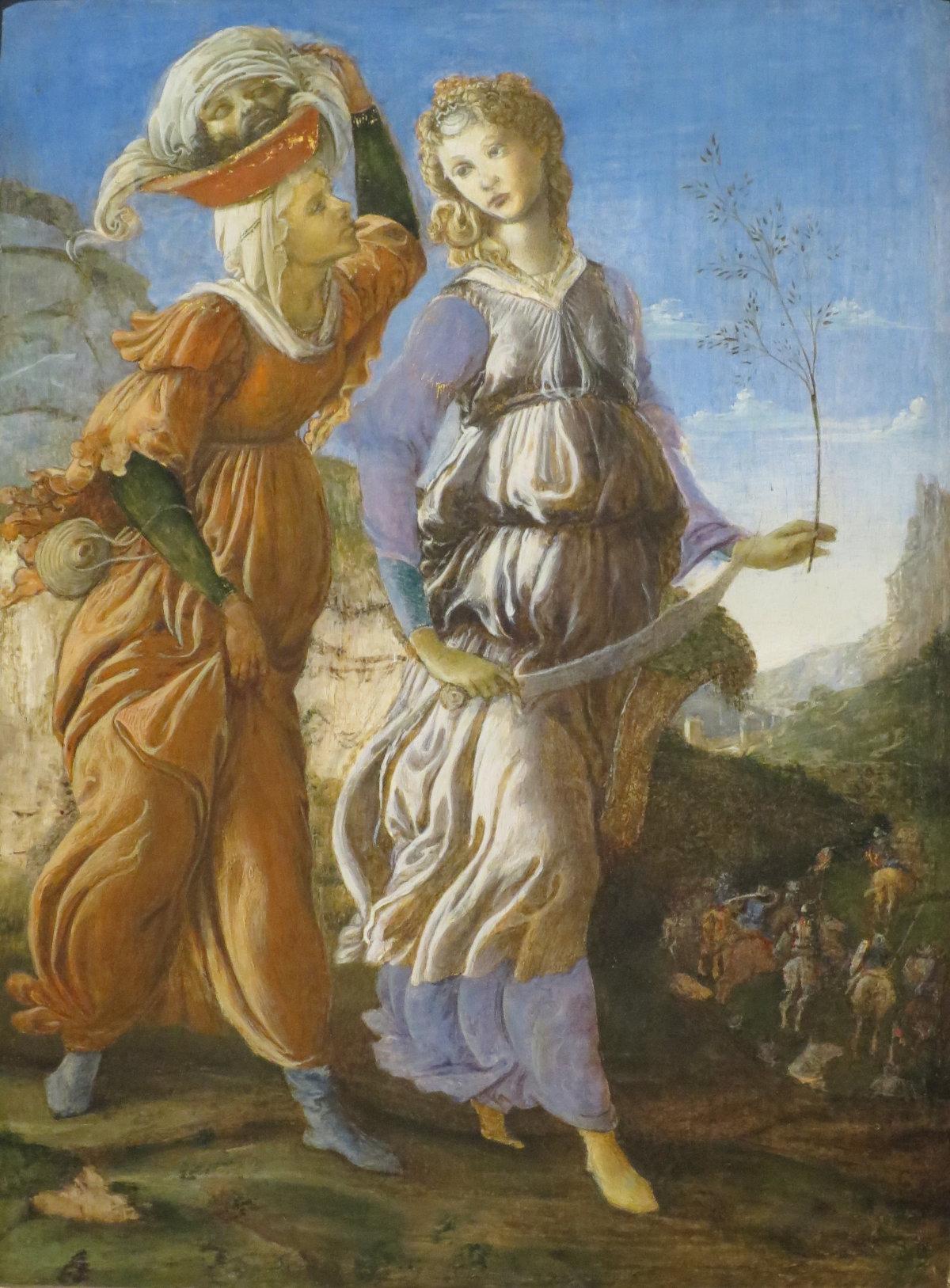 Le retour de Judith à Béthulie, Sandro Botticelli, vers 1470 / via Wikimedia Public domain